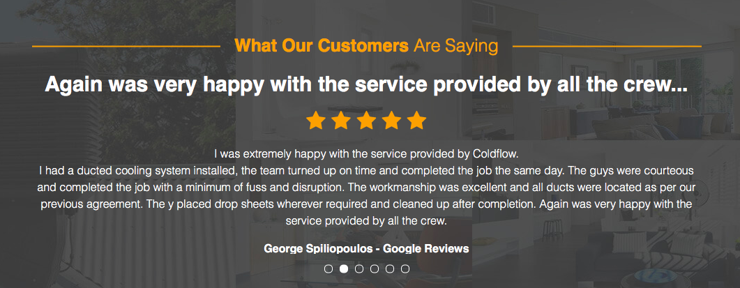 Cold Flow review found these customer testimonials