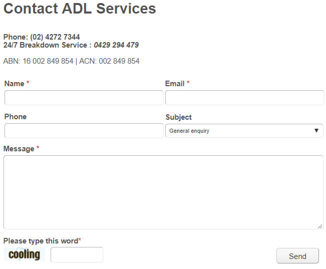 ADL Services Review online form