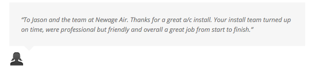 NewAge Air Conditioning Review customer testimonials