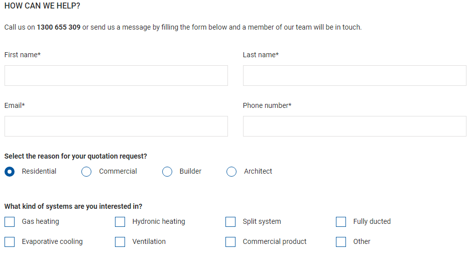 BradMac Airconditioning review online form
