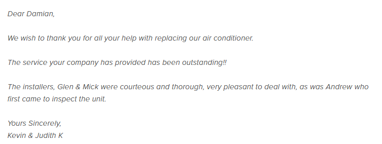 Climatic Review customer testimonial 1