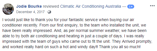 Climatic Review customer testimonial 2