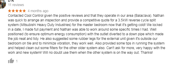 Cool Control Review customer testimonial