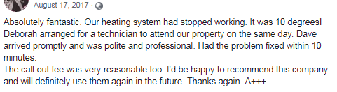 Melbourne Heating and Cooling review another customer testimonial