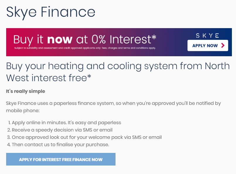 North West Airconditioning Review financing
