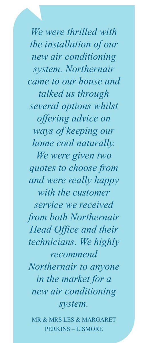 Northern Air Review customer testimonial 1
