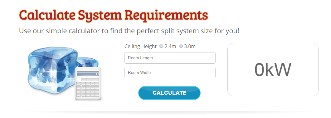 System requirement calculator by The Split System Guy review