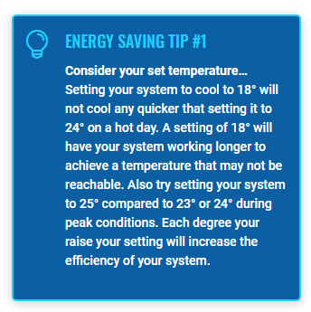 Energy saving tip for Think Cooling review