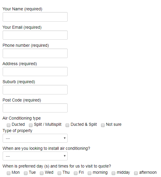 Frost Air Review online form