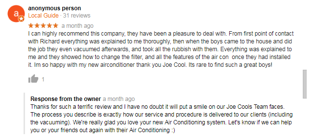 Joe Cools Review customer testimonial 2