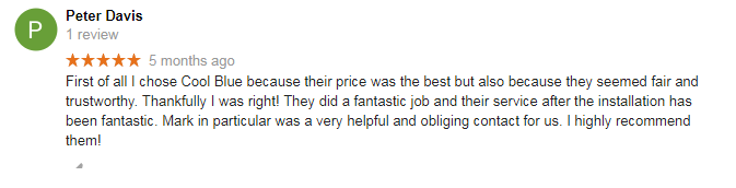 Cool Blue Air Conditioning Review Customer Testimonials