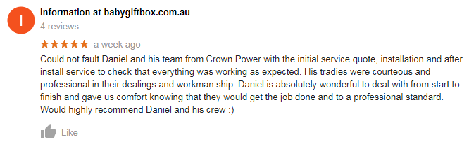 Crown Power Air Conditioning Review Customer Testimonials 2