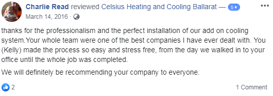 Celsius Heating & Cooling Review Customer Testimonials 1