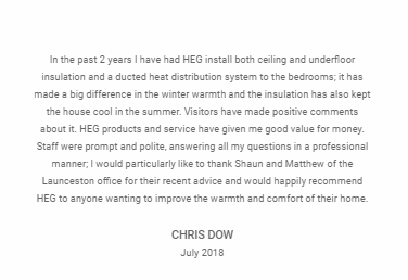 Home Efficiency Group Review Customer Testimonial 1