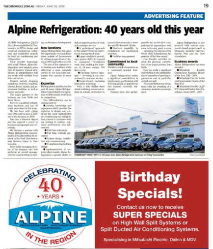 Alpine Refrigeration Review Birthday and Specials