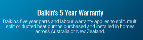 Ideal Air Conditioning warranty from Daikin