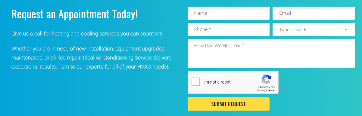 Ideal Air Conditioning review online form